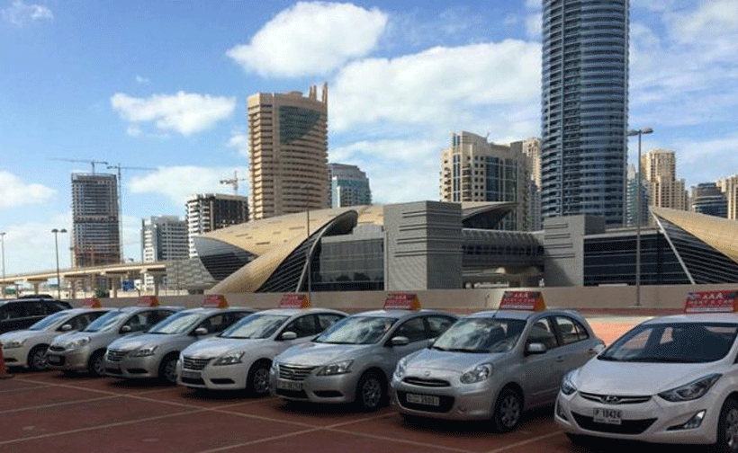 car rental in uae