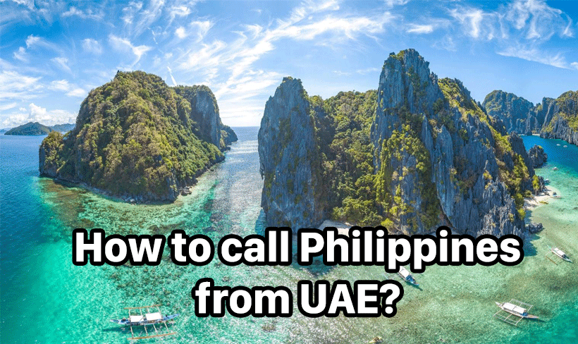 How to call Philippines from UAE?