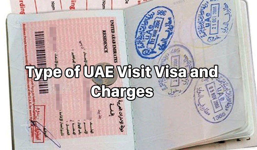 Type of UAE Visit Visa and Charges