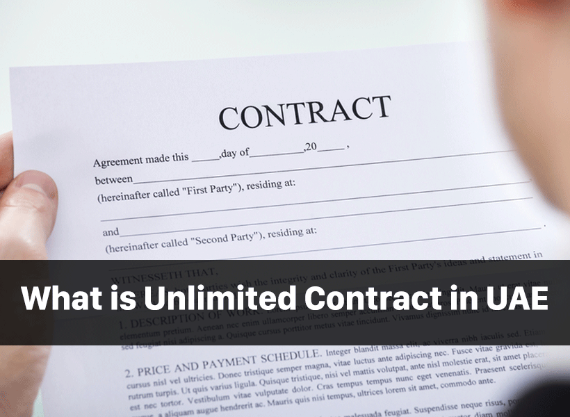 What is unlimited Contract in UAE